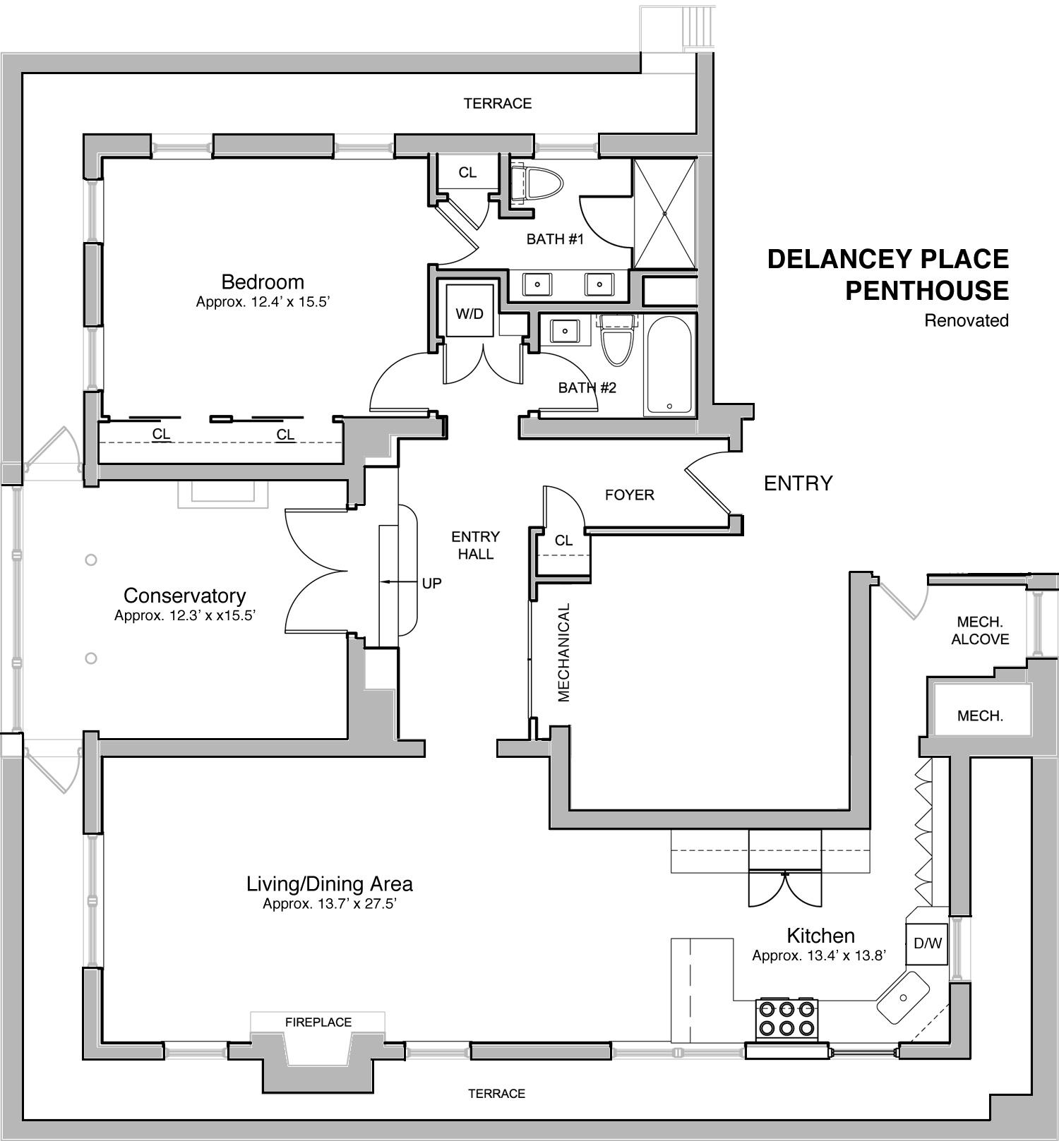 delancey place luxury apartments rittenhouse management corporation delancey penthouse floorplan